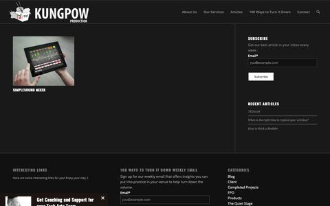 Screenshot of Products Page kungpowpro.com - Products – Kungpow Production - captured Oct. 16, 2018