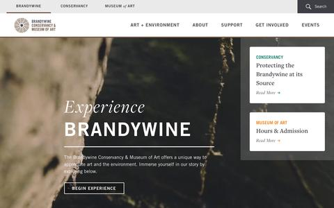 Screenshot of Home Page brandywine.org - Brandywine Homepage | Brandywine Conservancy and Museum of Art - captured Feb. 8, 2016