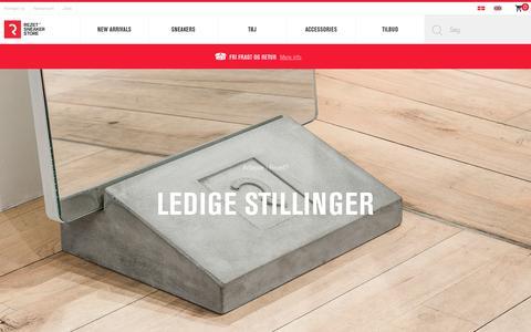 Screenshot of Jobs Page rezetstore.dk - Job site - Rezet Sneaker Store - captured June 11, 2017