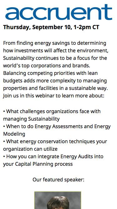 Webinar Registration | Planning for Sustainability