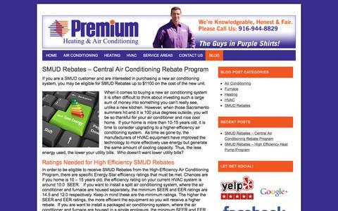 Screenshot of Blog premiumairconditioningandheating.com - Premium Air Conditioning and Heating Blog | Latest Information - captured Jan. 30, 2016