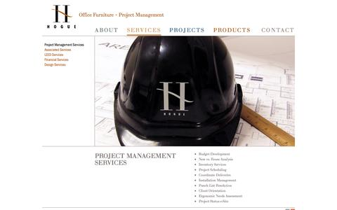 Screenshot of Services Page hoguesf.com - Project Management Services   HogueSF   Office Furniture + Project Management - captured Oct. 2, 2014