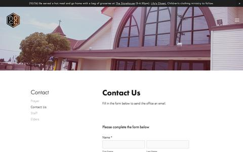 Screenshot of Contact Page nocc.org - Contact Us — NOCC - captured Oct. 26, 2017
