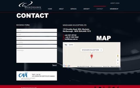 Screenshot of Contact Page windhawkhelicopters.com - Windhawk Helicopters Contact - captured Dec. 13, 2016