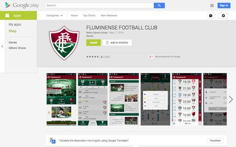 Screenshot of Android App Page google.com - FLUMINENSE FOOTBALL CLUB - Android Apps on Google Play - captured Oct. 31, 2014
