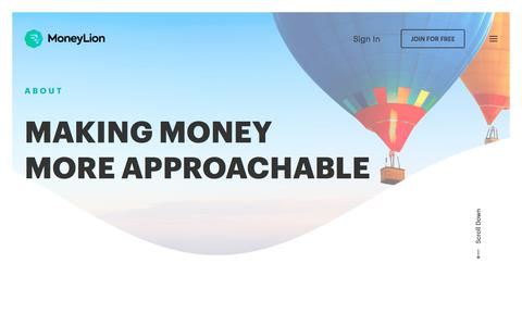 Screenshot of About Page moneylion.com - Free Credit Score and Credit Monitoring | MoneyLion - captured July 9, 2018