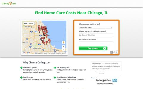 Screenshot of Landing Page caring.com - Find Top In-Home Care Agencies in Your Area | Caring.com - captured April 20, 2017