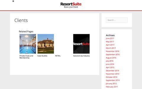 Clients | ResortSuite