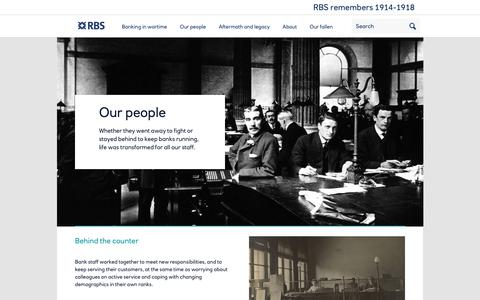 Screenshot of Team Page rbsremembers.com - Our people | RBS Remembers - captured Feb. 23, 2018