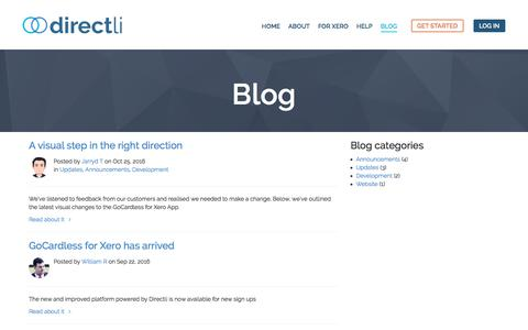 Screenshot of Blog directli.co.uk - Blog - Directli - captured June 4, 2017