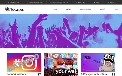 Screenshot of Blog the-wallrus.com - Blog | The Wallrus - captured July 5, 2017