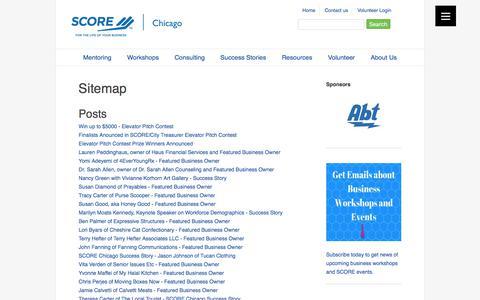 Screenshot of Site Map Page scorechicago.org - SCORE Chicago - Sitemap - captured Aug. 15, 2017