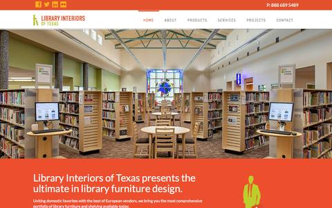 Screenshot of Home Page libraryinteriorsoftexas.com - Library Interiors of Texas , Interior Design and Planning - captured Sept. 30, 2014