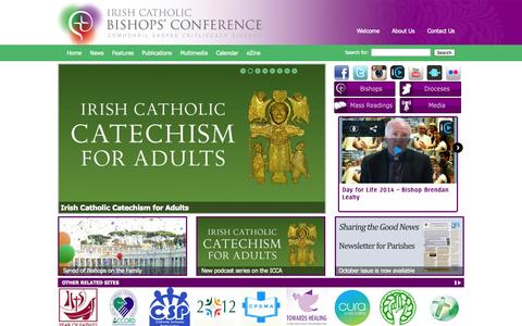 Screenshot of Home Page catholicbishops.ie - Irish Catholic Bishops' Conference - captured Oct. 6, 2014