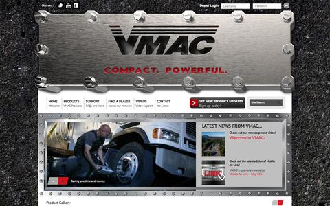Screenshot of Home Page vmacair.com - VMAC - Belt-driven and Hydraulic Air Compressor SystemsVMAC - captured Sept. 24, 2014