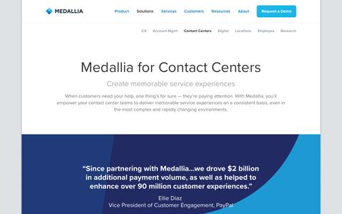Contact Centers - Medallia