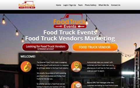 Screenshot of Home Page foodtruckevents.com - FoodTruck - captured Oct. 6, 2014