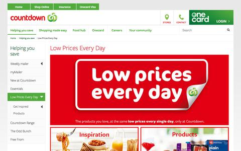 Screenshot of countdown.co.nz - Low Prices Every Day - only at Countdown - captured July 21, 2017