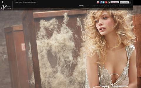 Screenshot of Home Page jlmcouture.com - Bridesmaids Dresses, Bridal Gowns and Formal Dresses by JLM Couture - captured Sept. 23, 2014