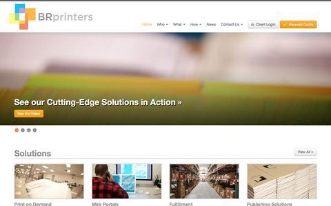 Screenshot of Home Page brprinters.com - BR Printers Digital Print Solutions. CA   KY   NJ. - captured Dec. 28, 2015