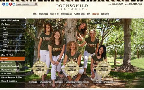 Screenshot of Jobs Page rothschildsafaris.com - Careers « Rothschild Safaris Rothschild Safaris - captured Nov. 5, 2014