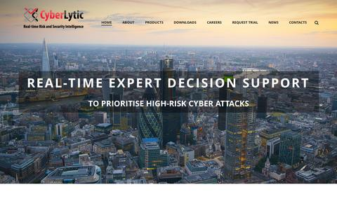Screenshot of Home Page cyberlytic.com - Cyberlytic   Real-time Risk and Security Intelligence - captured June 21, 2015
