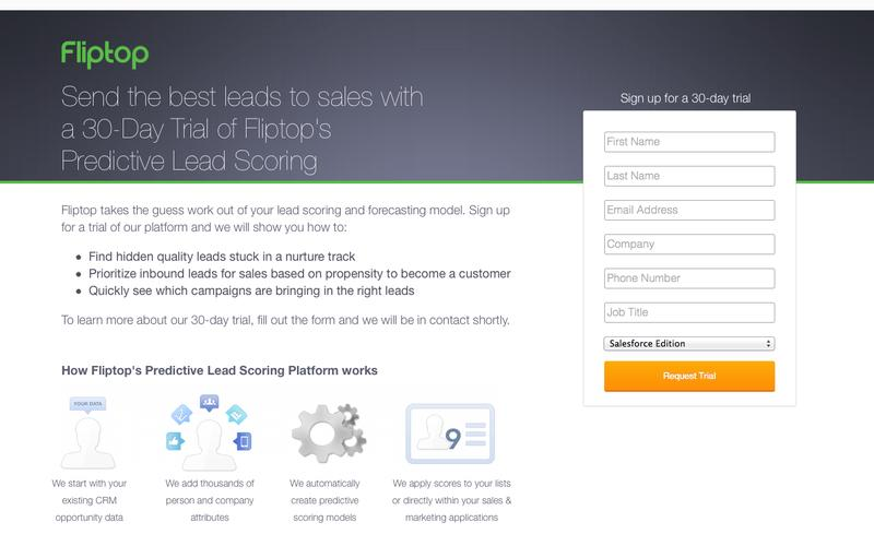 30-Day Trial Predictive Lead Scoring