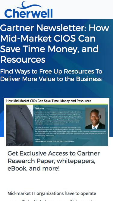 Gartner Newsletter: How Mid-Market CIOs Can Save Time, Money, and Resources