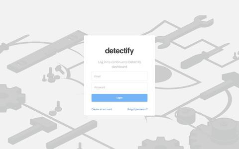 Log in and Monitor Your Site's Security | Detectify