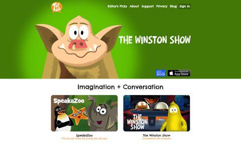 Screenshot of Home Page toytalk.com - ToyTalk - captured Sept. 17, 2014