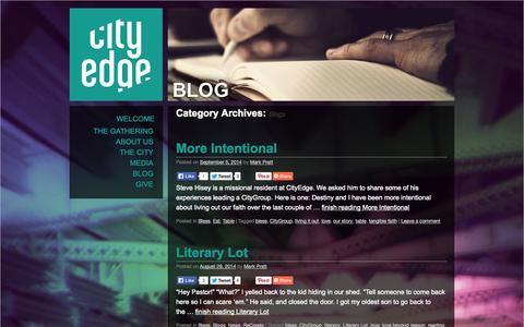 Screenshot of Blog cityedge.org - Blogs | CityEdge - captured Oct. 2, 2014