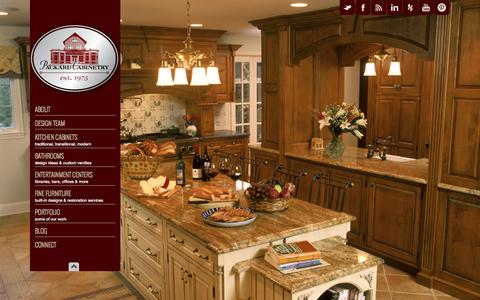 Screenshot of Home Page packardcabinetry.com - Packard Cabinetry-Custom Kitchen & Bathroom Cabinets, Countertops - Packard Cabinetry-Custom Kitchen & Bath Cabinets, Countertops-NY, NC - captured Sept. 27, 2014
