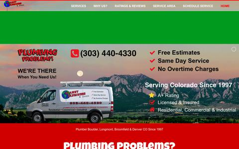Screenshot of Home Page planetplumbinganddrain.com - Plumber Boulder & Longmont CO | Plumbers Near Me | Drain | Sewer - captured July 19, 2018