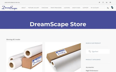 Screenshot of Trial Page dreamscapewalls.com - Trial Rolls Category   DreamScape Digital Wallcoverings - captured Oct. 9, 2018