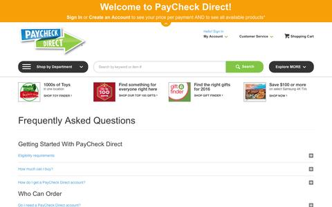FAQ PayCheck Direct