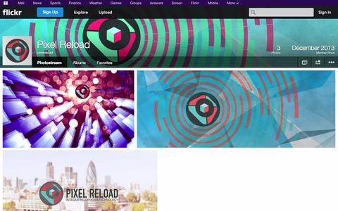 Screenshot of Flickr Page flickr.com - Flickr: pixelreload's Photostream - captured Oct. 22, 2014