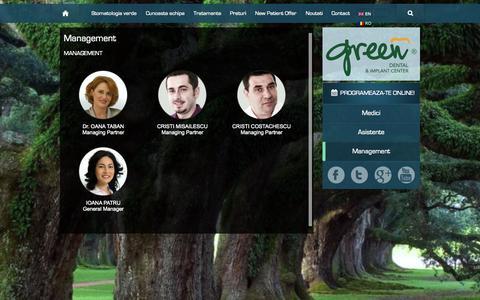 Screenshot of Team Page greendental.ro - Management - cunoaste echipa | Green Dental - captured Sept. 30, 2014