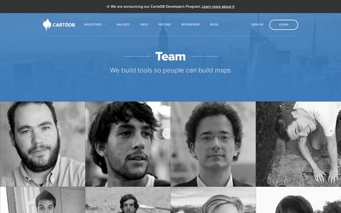 Screenshot of Team Page cartodb.com - Team — CartoDB - captured Oct. 28, 2014