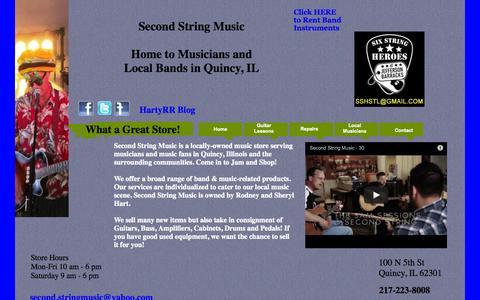 Screenshot of Home Page secondstringmusic.com - SSM Home - captured Sept. 30, 2014