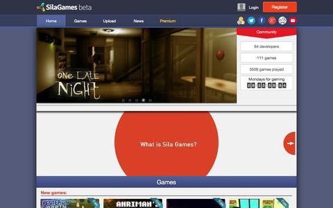 Screenshot of Home Page silagames.com - Home - Sila Games - captured Sept. 30, 2014