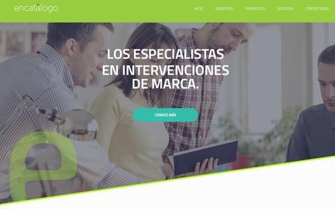 Screenshot of Home Page encatalogo.com - Encatalogo - captured Jan. 29, 2016