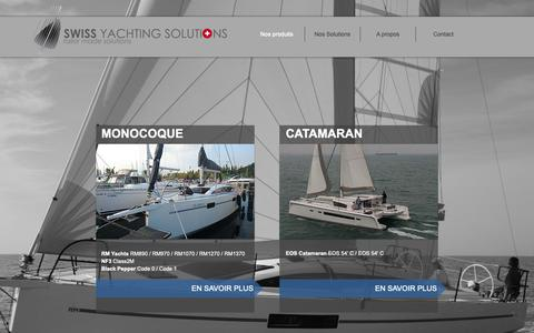 Screenshot of Home Page swyso.ch - Home - Swiss Yachting Solutions - captured May 29, 2019