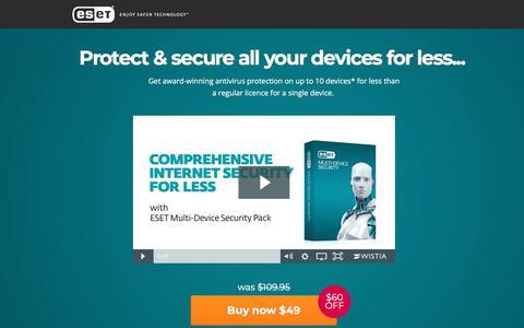 Screenshot of Landing Page eset.com - ESET ESET Multi-Device Security Pack SPECIAL OFFER - captured March 27, 2018