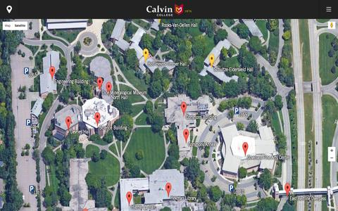Screenshot of Maps & Directions Page calvin.edu - Map - Calvin College - captured Dec. 4, 2015