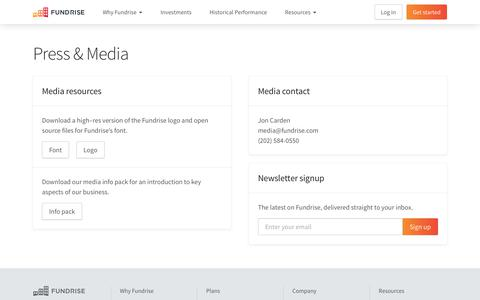 Screenshot of Press Page fundrise.com - Press & Media   Fundrise - captured June 13, 2019
