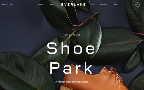 Screenshot of Home Page everlane.com - Everlane   Modern Basics. Radical Transparency. - captured Sept. 21, 2016