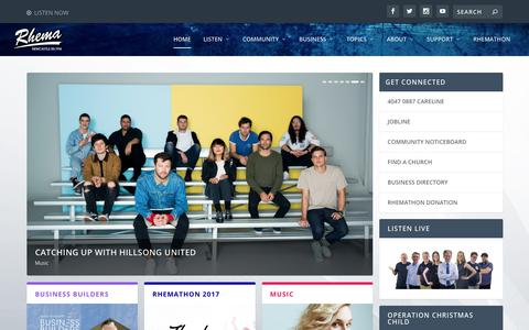 Screenshot of Home Page rhemafm.com.au - | Rhema FM Newcastle - captured July 5, 2017
