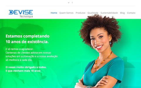 Screenshot of Home Page devisetecnologia.com.br - Devise Tecnologia - captured Aug. 6, 2018