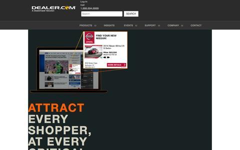 Screenshot of Home Page dealer.com - Automotive Websites, SEO, Advertising | Dealer.com - captured Nov. 6, 2015