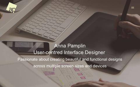 Screenshot of Home Page pamps.co.uk - Anna Pamplin – UI Designer - captured Nov. 24, 2016